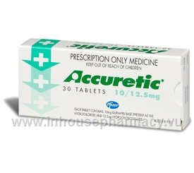Accuretic 10/12.5mg (Quinapril/HCTZ) 30 Tablets/Pack
