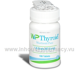 Westhroid-P 1.5 Grain 97.5mg 100 Tablets/Pack