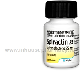 Spiractin 25 (Spironolactone) 100 Tablets/Pack