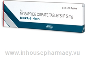 Moza-5 (Mosapride) 5mg 210 Tablets/Pack