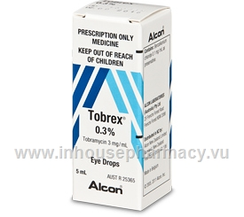 Tobrex Eye Drops (Tobramycin 0.3%) 5ml/Pack