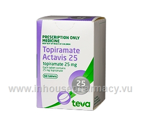 Topiramate Actavis 25mg 60 Tabs/Pack