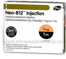 Neo-B12 Injection (Hydroxocobalamin 1mg/ml) 3 x 1ml Ampoules/Pack