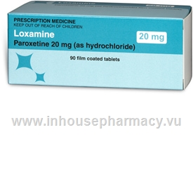 Loxamine 20mg (Paroxetine) 90 Tablets/Pack
