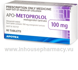 APO-Metoprolol 100mg 60 Tablets/Pack
