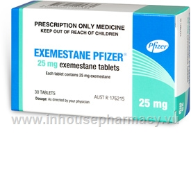 Exemestane Pfizer 25mg 30 Tablets/Pack