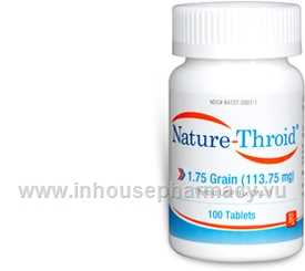 Nature-Throid 1.75 Grain - 100 Tabs/Bottle