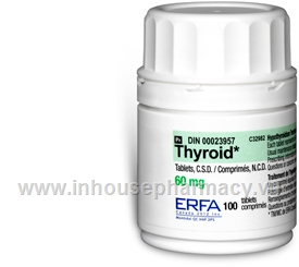 Thyroid 60mg 100 Tablets/Pack by ERFA