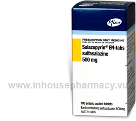 Salazopyrin-EN 500mg 100 Tablets/Pack