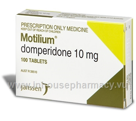 Motilium 10mg 100 Tablets/Pack