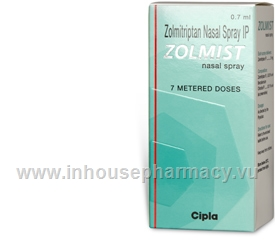 Zolmist Nasal Spray (Zolmitriptan 5mg) 0.7ml/Pack