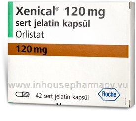 Xenical (Orlistat 120mg) 42 Capsules/Pack (Turkish)