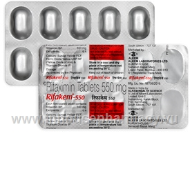 Rifakem-550 (Rifaximin 550mg) 10 Tablets/Strip