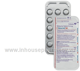 Telsartan-80 (Telmisartan IP 80mg) 14 Tablets/Strip