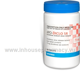 APO-Diclo (Diclofenac 75mg) 500 Tablets/Pack