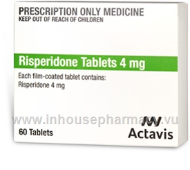 Risperidone Tablets 4mg 60 Tablets/Pack