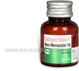 Neo-Mercazole 10 (Carbimazole 10mg) 100 Tablets/Bottle
