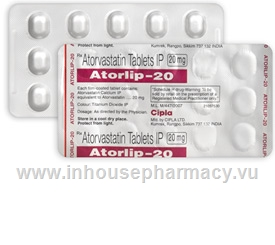 Atorlip-20 (Atorvastatin 20mg) 15 Tablets/Strip