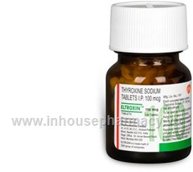 Eltroxin Thyroxine Sodium 100mcg Inhousepharmacy Vu