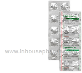 Rabemac (Rabeprazole 10mg) 10 Tablets/Strip