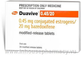 Duavive (Conjugated Estrogens/Bazedoxifene 0.45mg/20mg) 28 Tablets/Pack