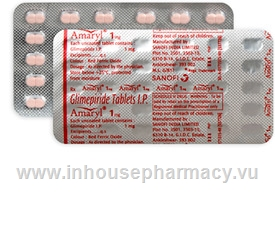 Amaryl (Glimepiride 1mg) 30 Tablets/Strip