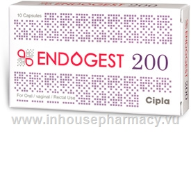 Endogest 200 (Progesterone 200mg) 10 Capsules/Strip