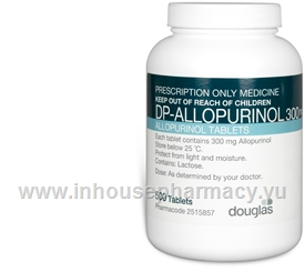 Allopurinol 300mg 500 Tablets/Pack