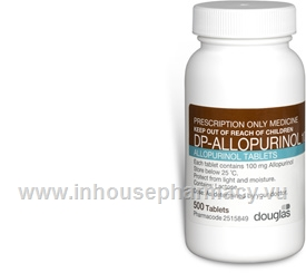 Allopurinol 100mg 500 Tablets/Pack