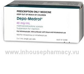 Depo-Medrol (Methylprednisolone acetate 40mg/ml) 1ml 5 Ampoules/Pack