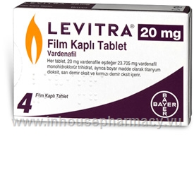Levitra (Vardenafil 20mg) 4 Tablets/Pack (Turkish)