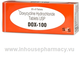 Dox-100 (Doxycycline 100mg) 160 Tablets/Pack