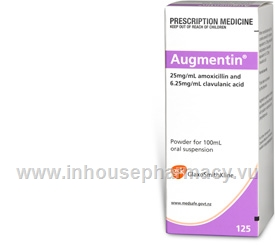 Augmentin (Amoxycillin and Clavulanic Acid 125mg/5ml) Oral Suspension