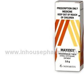 Maxidex (Dexamethasone 0.1%) Eye Ointment 3.5g/Tube