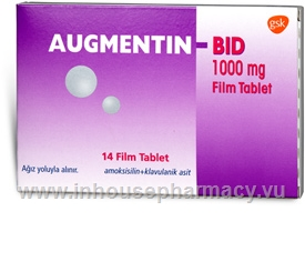 Augmentin (Amoxycillin/Clavulanic Acid 875mg/125mg) Tablets (Turkish)