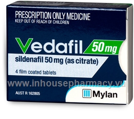Vedafil (Sildenafil Citrate 50mg) 4 Tablets/Pack