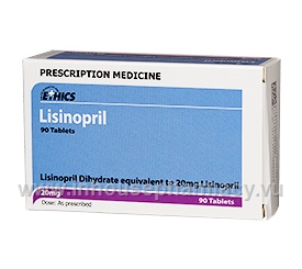 Lisinopril 20mg 90 Tablets/Pack by Ethics