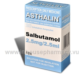 Asthalin Nebules 2.5mg/2.5ml 20 Nebs/Pack