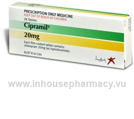 Cipramil 20mg  28 Tablets/Pack