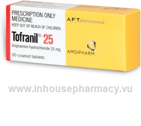 Tofranil 25mg 50 Tablets/Pack