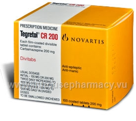 Tegretol CR 200mg 100 Tablets/Pack