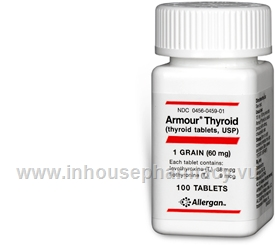 Armour Thyroid (60mg) 100 Tablets/Pack