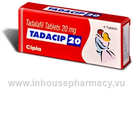 Tadacip (Tadalafil 20mg) 4 Tablets/Pack