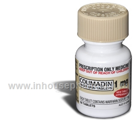 Coumadin Warfarin 1mg Tablets 50 Tablets/Pack