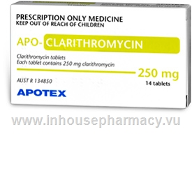 Apo-Clarithromycin Tablets 250mg 14 Tablets/Pack