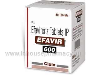 Efavir 600mg 30 Tablets/Pack