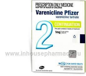 Varenicline Pfizer Continuation 1mg 56 Tablets/Pack