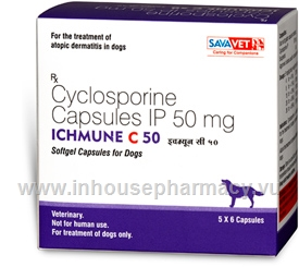 Ichmune C (Cyclosporine 50mg) 30 Capsules/Pack