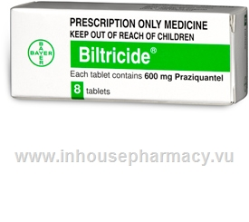 Biltricide (Praziquantel 600mg) 8 Tablets/Pack