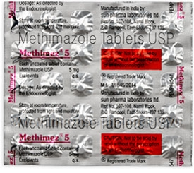 Methimez (Methimazole 5mg) 30 Tablets/Strip